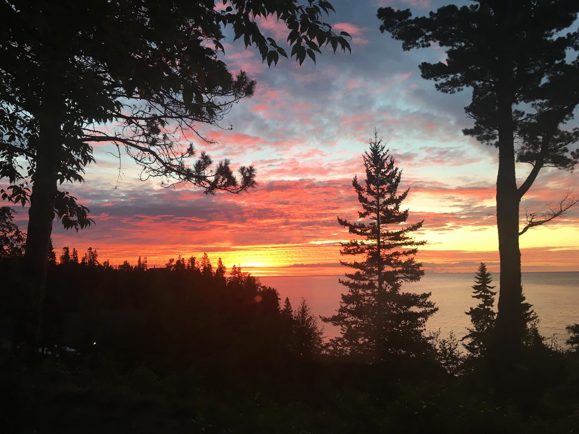 Sunrise at Lutsen